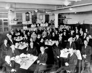 1922.  Staff lunch room at Mount Vernon Textile Mill #3.